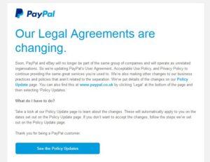 ebay paypal separation